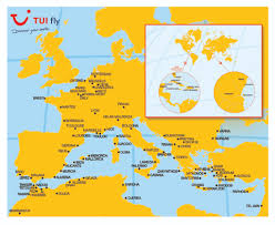 Lourdes France Map by Tui Fly Airlinepros