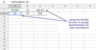 rounding integer numbers rounding numbers in spreadsheets