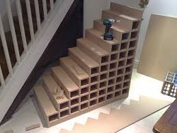 accessories wondrous stair shaped wine rack under your staricase