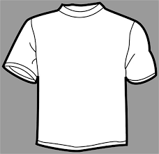 outline of a t shirt template