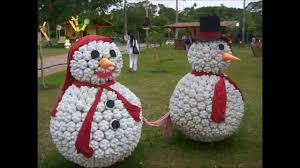 beauteous image of large round outdoor homemade snowman christmas