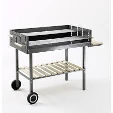 grillk che grill chef barbecue à charbon acier émaillé 97x54 cm achat
