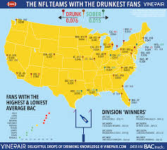 Buffalo Map Ranked The Teams With The Drunkest Fans In The Nfl Map Vinepair