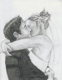 pencil sketches of people kissing wedding kiss by lezzybum coll