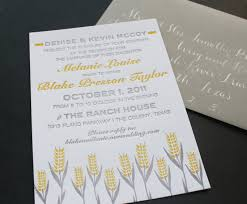 wheat wedding invitation u2013 blue eye brown eye