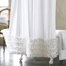 bathroom extra long ruffle shower curtain shower curtain for