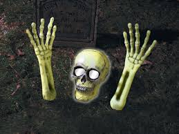 skeleton coming out of ground light up halloween outdoor yard