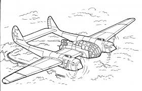 simple airplane coloring pages 5768 bestofcoloring
