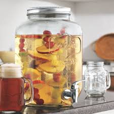 mason jar beverage dispenser wine enthusiast