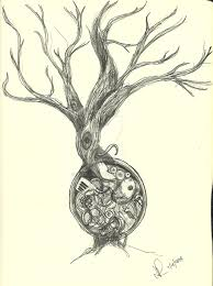 tree of life brilliant tree of life steampunk tattoo sketch by oscillum