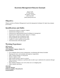 resume objective statement for business management business resume objective shalomhouse us