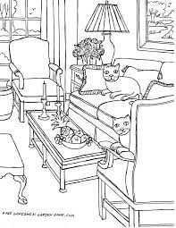coloring pages for adults u2026 some drawings of living rooms for