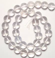 quartz crystal bracelet beads images Natural clear quartz rock crystal beads bracelet jpg