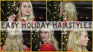 quick u0026 easy holiday christmas hairstyles youtube