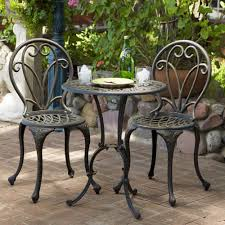 Small Metal Patio Table by Amazon Com Christopher Knight Home Thomas Cast Aluminum Dark Gold