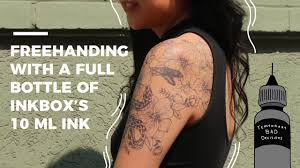 tattoo ink pictures 1 bottle of inkbox freehand tattoo ink youtube