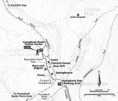 Appalachian Trail Map Virginia by Humpback Rocks