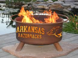 Arkansas Razorback Home Decor by University Of Arkansas Razorbacks Logo Fire Pit