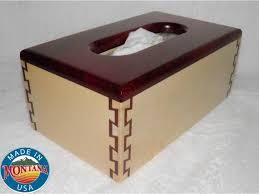 tissue box cover solid maple and bloodwood 1010201402