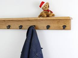 solid oak shelf coat racks 3 to 10 single style hook choices