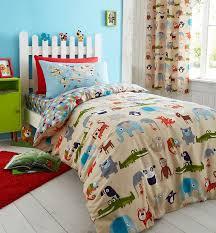 Single Duvet And Pillow Set Catherine Lansfield Animal Kingdom Single Duvet Set Multi Amazon
