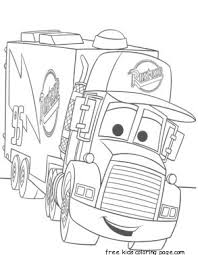 cars 2 mack truck car carrier coloring pages kidsfree