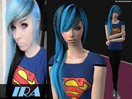 sims 4 blue hair staceylynmay s ira vire