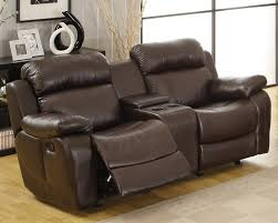 Brown Leather Recliner Sofa Leather Reclining Sofa Set With Cup Holder U2013 Plushemisphere