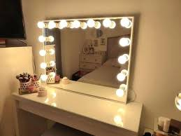 hollywood mirror with light bulbs vanity table with lights around mirror and vanity mirror set with