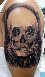 amazing skull tattoos 50 best tattoos images on pinterest psychobilly draw and