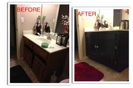 Repaint Bathroom Vanity by Refinish Bathroom Vanity Cabinet Refinishing My Guest Bathroom