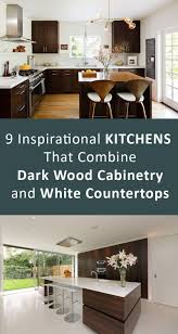 Kitchens With Dark Wood Cabinets by 9 Inspirational Kitchens That Combine Dark Wood Cabinetry And