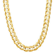 curb chain necklace mens images Just gold men 39 s concave curb chain necklace in 10k gold 22 jpg