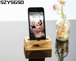 online buy wholesale wooden cell phone stand for desk from china