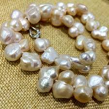natural freshwater pearl necklace images Large size baroque keshi stely wholesales peanut shape natural jpg