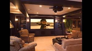 basement home theater design and decorations youtube