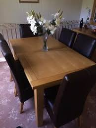 for sale solid pine 6 seater dining table and wheel back chairs