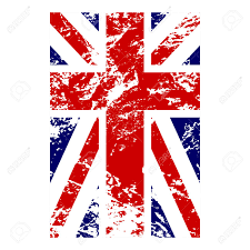 Blue White And Red Flags British Flag Vertical Grunge Old Style Blue Red And White
