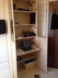 Narrow Billy Bookcase Billy Bureau Workspace In A Billy Bookcase Ikea Hackers