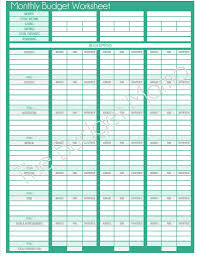 Personal Budget Spreadsheet Free Download by Updated Monthly Budget Printable Monthly Budget Worksheet