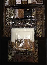 Shower Bath Mat Amazon Com 18pcs Bath Rug Set Leopard Brown Bathroom Rug Shower