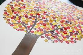 simple craft for autumn dot trees jones design company