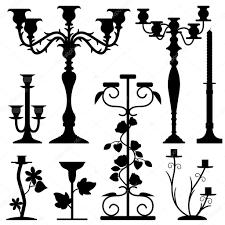 candlestick holder home interior old design u2014 stock vector
