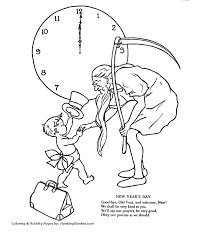 new years baby new year s day coloring pages time and new year baby