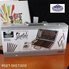 deluxe sketching drawing box set graphite charcoal pencils 50 pieces