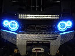 Halos Around Lights Halo Kit For All Sportman Atvs Redneck Radios U0026 Offroad Accessories