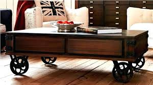 round coffee table with casters coffee table with casters coffee table on wheels pallet coffee table