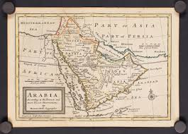 basra map sold 1712 moll arabia according to the newest and most exact