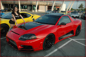 dodge stealth red mitsubishi 3000gt