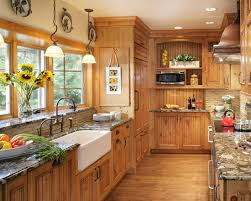 Classic Kitchen Colors Furniture Traditional Kitchen With Pine Cabinets Also White Sink
